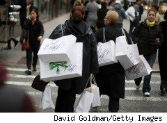 Black Friday shoppers hit the streets of New York