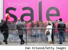 People line up for a bargain