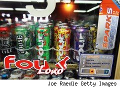 Four Loko caffeinated alcohol drinks