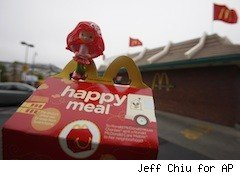 Happy Meal outside McDonald's