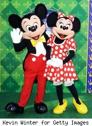 Micky and Minnie Mouse