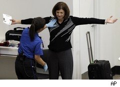 TSA airport security pat down