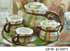 plaid tea cups -- plaid friday