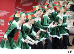 Ladies dancing at Christmas show