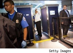 TSA full-body scanner at JKF airport