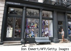 American Apparel store in lower Manhattan