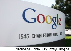 Sign outside Google headquarters