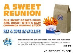 White Castle coupon for sweet potato fries