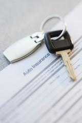 car insurance policy with car keys - credit score