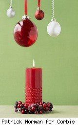 christmas ornaments and a candle - dumb holiday mistakes