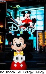 MIckey Mouse in front of the disney store - disney free