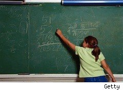 girl at chalkboard - life insurance