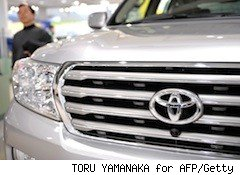 close up of the toyota symbol - consumers avoiding toyotas