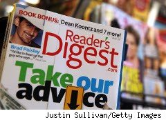 Reader's Digest magazine on rhe rack