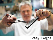 barber with scissors and comb - how much to tip