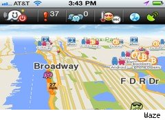 Waze iPhone screen shot