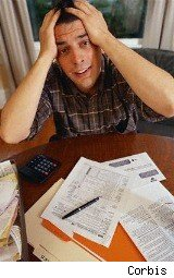 young man freaking over his taxes...you  can get free tax filing assistance from numerous sources.