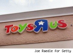 Toy R Us sign - toys on sale
