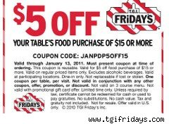 T.G.I. Friday's coupon