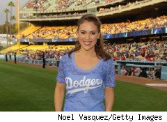 Actress Alyssa Milano is also a big sports fan -- and she's helped drive her sports-clothing line, Touch, to success in a down economy.