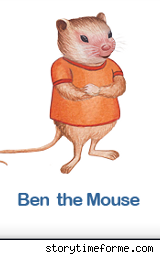 Children's book character Ben the Mouse