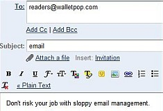 Common email blunders