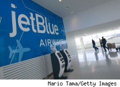 jetBlue sign at Kennedy