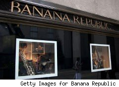 Banana Republic window