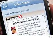 The Cellfire mobile coupon application for iPhone and iPod Touch allows customers to use coupons from their phones