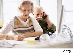 old woman and man working - mistakes retirees make