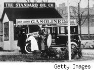 Standard oil station in 1911
