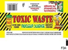Toxic waste candy recall