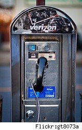 old pay phone with verizon logo - verizon iPhone