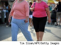 Two people who need to get into shape