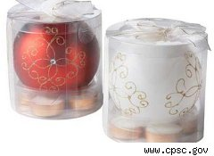 Recalled tea lights from Pier 1