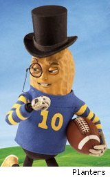 Planters' Mr. Peanut ready for the Super Bowl