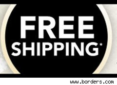 Borders tag advertising free shipping