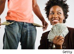 a couple doesn't share the money - secret spenders