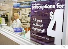 Wal-Mart Stores Inc. expanded a $4 offer for some prescription generic drugs to 11 more states Thursday, including Oklahoma, in its plan to reach all 50 states by as early as January with the discount program.