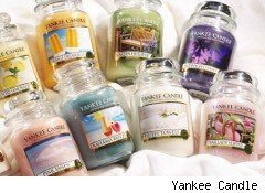 Array of Yankee Candles