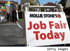 job fair today sign - jobless