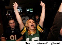 Packers fan celebrates her team's trip to the Super Bowl