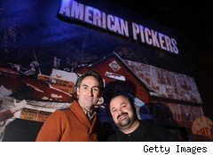 Mike Wolfe (left) of American Pickers, with Frank Fritz