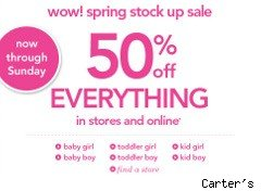 Carter's coupon for 50% off