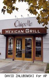 exterior Chipotle - free burrito - Friday freebies