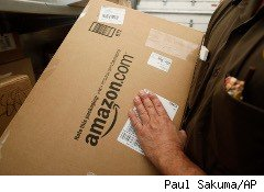 UPS deliveryman has package from Internet giant Amazon.com