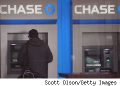 Customer at a Chase Bank