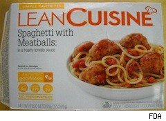 lean cuisine spag bog with plastic - recall