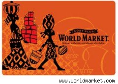 World Market gift card