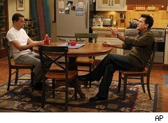 Charlie Sheen (right) on Two and a Half Men